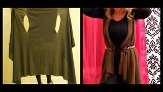 2 MINUTE DIY:  Cute Wrap/Vest (Cheap and Simple!)