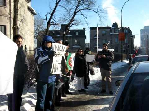 Manifestation devant le Consulat d'Algérie à Montréal vidéo 1.AVI