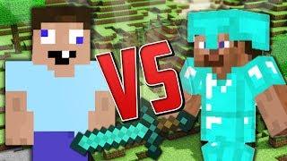 Sự Khác Nhau Giữa Noob và Pro Trong Minecraft