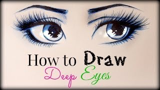 Drawing Tutorial ❤ How to draw and color Deep Eyes