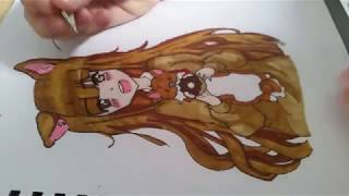 Anime Girl Speed Drawing ~ Time Lapse