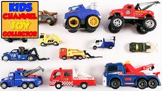 Tow Trucks For Kids Children Babies Toddlers | Trucks For Children | Vehicles For Kids | Preschool