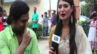 Actress Shirin Shila with Rj Saimur Live@Swadesh.Tv