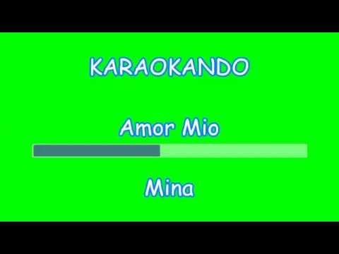 Karaoke Italiano - Amor Mio - Mina ( Testo )
