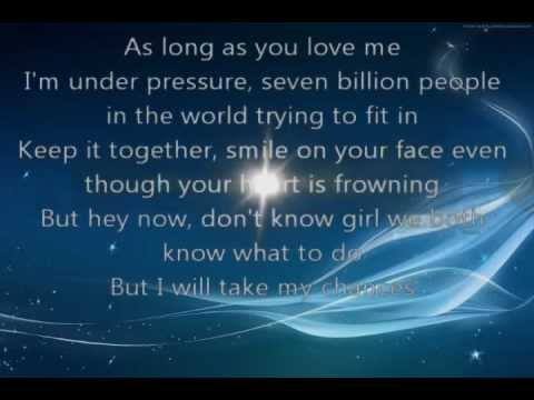 justin bieber as long as you love me lyrics metrolyrics