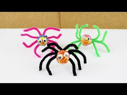 04:09 Lolli Spinnen Für Halloween | Deko U0026 Geschenk Idee | Basteln Mit  Kindern | Lustige Party