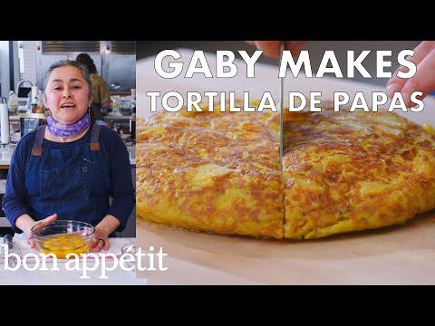 Gaby Makes Tortilla de Papas   From the Test Kitchen   Bon Appétit