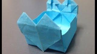 how to make a gum wrapper crane
