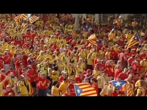 Catalans protest for independence in Spain - no comment