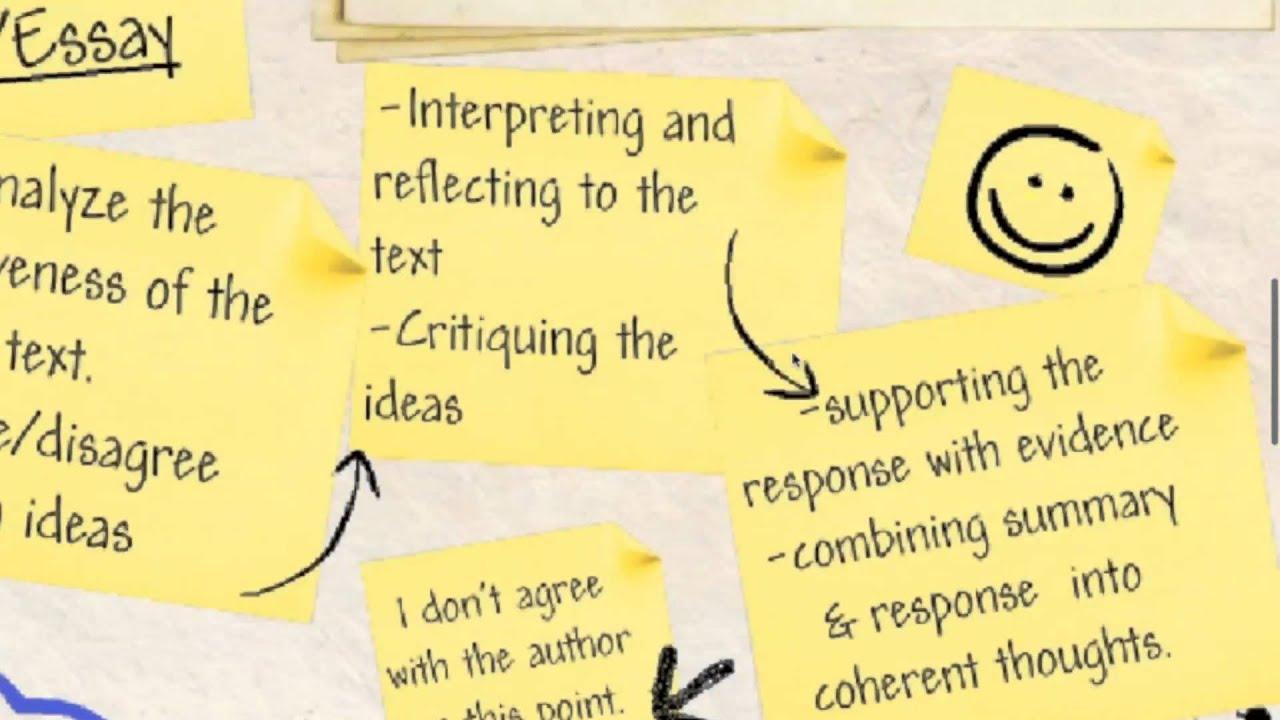 Inspirational response essay sample