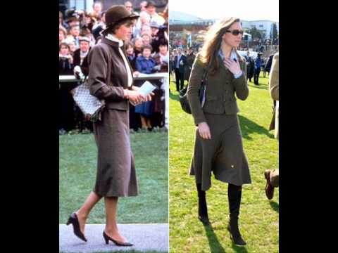 princess diana  and kate middleton their style