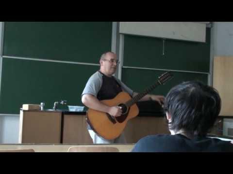 Csigér István with his guitar
