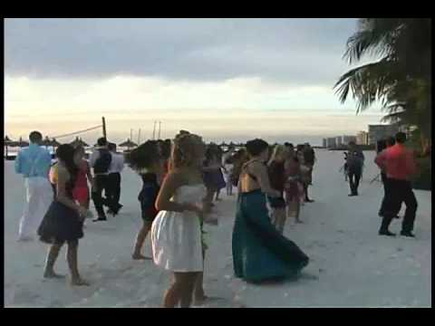 Flash Mob at Marco Island Marriott Beach Resort First Baptist Academy High School Homecoming Formal