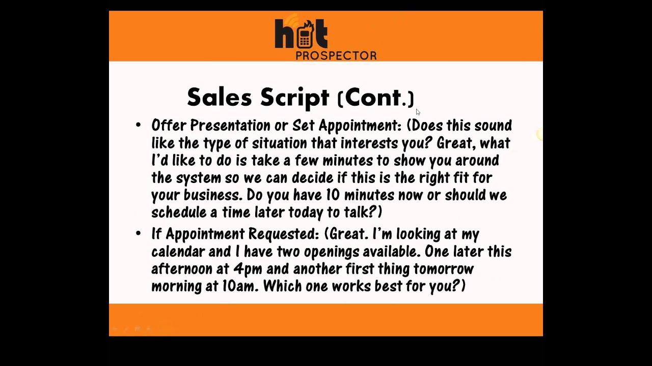 sales script writing
