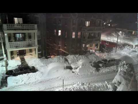 Winter Storm Nemo (Blizzard of 2013) in Boston, A 58 Hour Timlapse