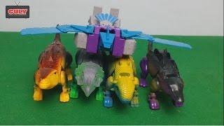 Đồ choi Khủng long biến hình Siêu nhân Robot lạ ghê Super Dinosaur Transformer Toy For Kids Megazord