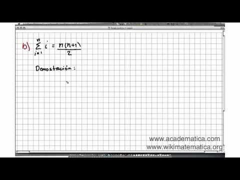 Demostración de la suma de i Suma de Gauss
