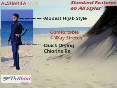 Veilkini Modest Islamic Swimsuit and Swimwear by Alsharifa.com