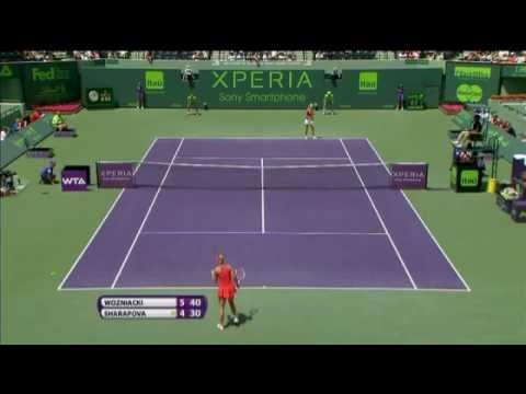 Sharapova vs Wozniacki - Miami 2012 - Highlights