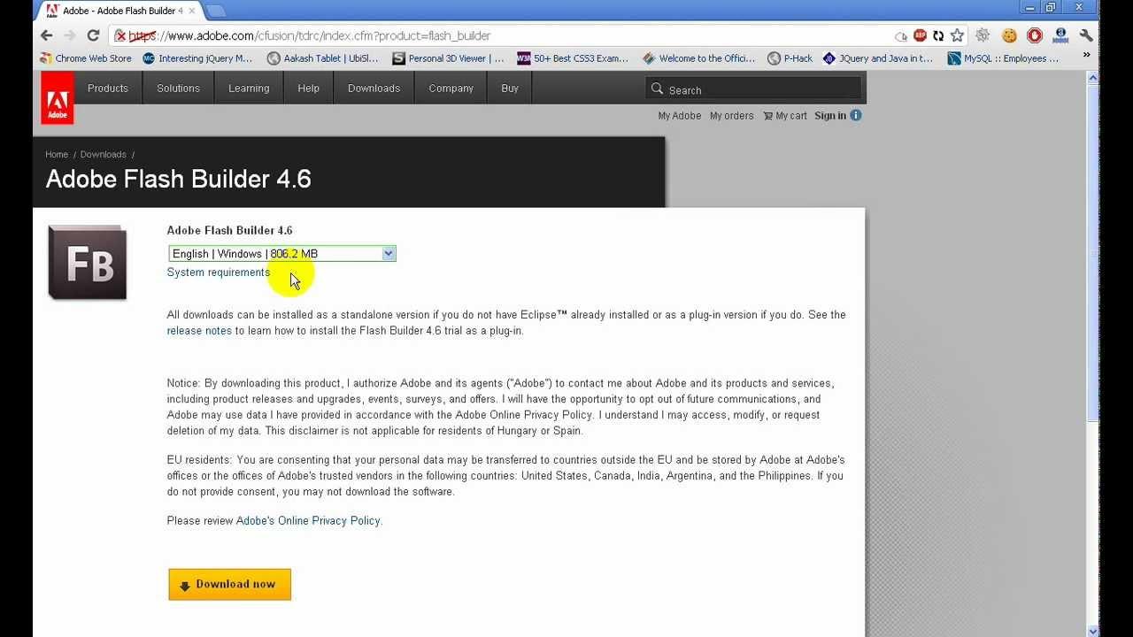 Adobe Flash Builder 4.6 Premium
