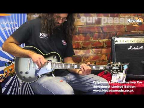 Epiphone Limited Edition Les Paul Custom Silverburst Demo - Nevada Music UK
