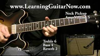 1966 Fender Vibrolux Demo:  Blues Guitar Solo