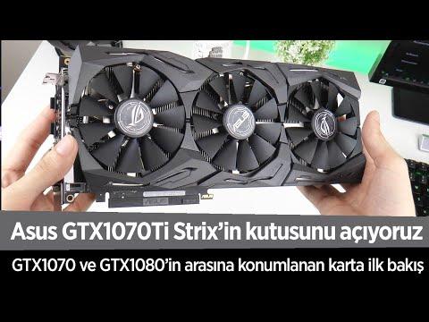 Asus GTX1070Ti Strix'in kutusunu açtık, önemli detaylar var!