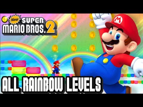New Super Mario Bros 2 3DS - ALL RAINBOW LEVELS!