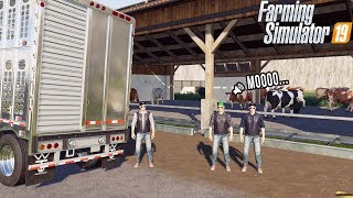 CATTLE FARM IS OFFICIAL | COW DELIVERY | FARMING SIMULATOR 2019