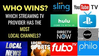 SHOWDOWN: Which Streaming TV Provider Has The Most LOCAL Channels in YOUR Area?