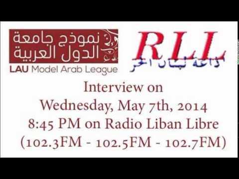 LAU Model Arab League Interview '14 @ Radio Liban Libre (RLL)