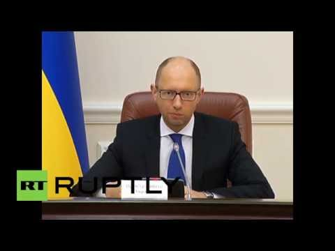 Ukraine: Yatsenyuk calls for 'humanitarian aid solely from the Red Cross'