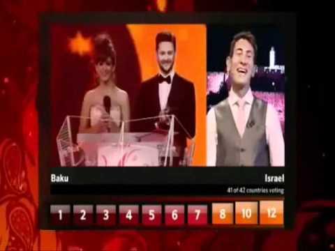 ישראל באירוויזיון   Voting Eurovision 2012 Baku: İsrael