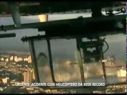 Helicoptero da record cai (vista de dentro do helicoptero na hora do acidente)