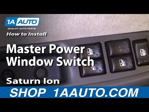 How To Install Replace Master Power Window Switch Saturn Ion 03-07 1AAuto.com