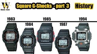 G-Shock history - 1984 - 1995 - squares