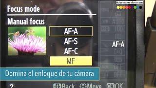 Como funciona el enfoque automático  AF S y AF C de nuestras cámaras de fotos