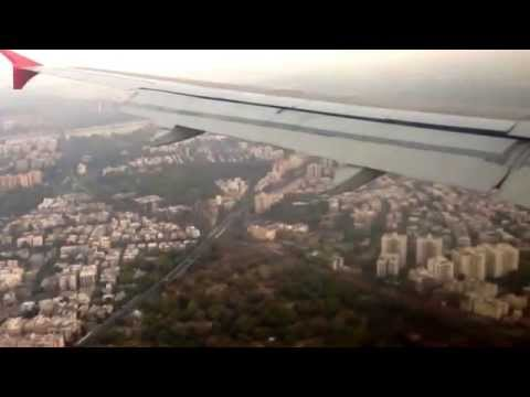Air India AI130 early morning landing at Ahmedabad airport