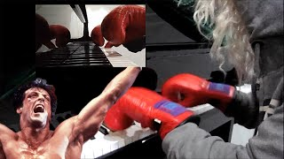 """Eye Of The Tiger"" on Piano with BOXING GLOVES!"