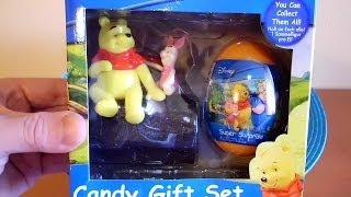 3D VIDEO: Winnie the Pooh Gift Set with Candy #1 Unboxing Surprise Eggs & Toys