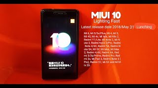 Miui 10 confirm Release date.. 7 on May 31 | Technology News | bangla review |