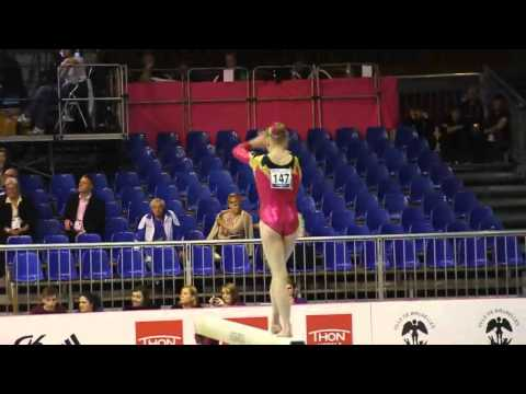 Lisa Katharina HILL GER, Beam, Team Final, European Gymnastics Championships 2012