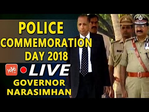 Police Commemoration Day 2018 LIVE | Telangana State Police | Governor Narasimhan | YOYO TV