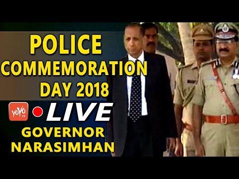 Police Commemoration Day 2018 LIVE | Telangana State Police | Governor Narasimhan | YOYO TV