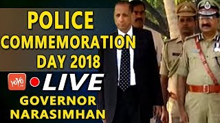 Police Commemoration Day 2018 LIVE | Telangana State Police | Governor Narasimhan