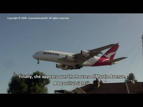 ABOUT THIS VIDEO A QANTAS Airbus A380 becomes involved in an emergency situation when a problem with the front landing gear is discovered. The plane aborts i...