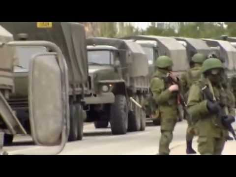 Russian Military Forces Block Ukrainian Military Base In Balaklava Sevastopol Crimea, March 1 2014