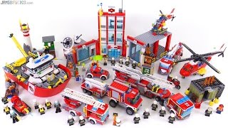 LEGO City 2016 Firefighting sets together!