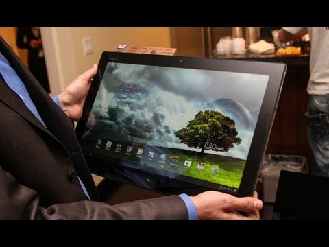 ASUS Transformer AiO Hands On Demo (18-inch Windows 8 + Android Tablet Monster)