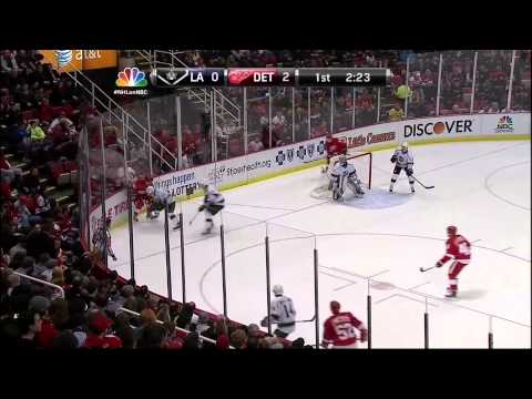 Damien Brunner goal Feb 10 2013 LA Kings vs Detroit Red Wings NHL Hockey